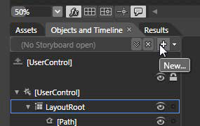 Click the New Storyboard button