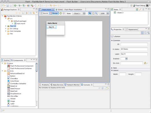 Design Mode View