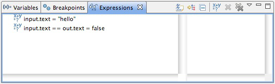 Watched expressions dialog