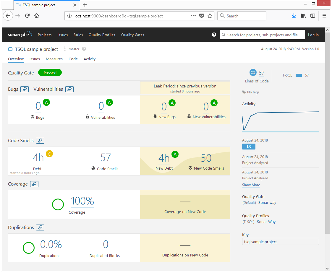 Scanning a TSQL Project With SonarQube - DZone Performance