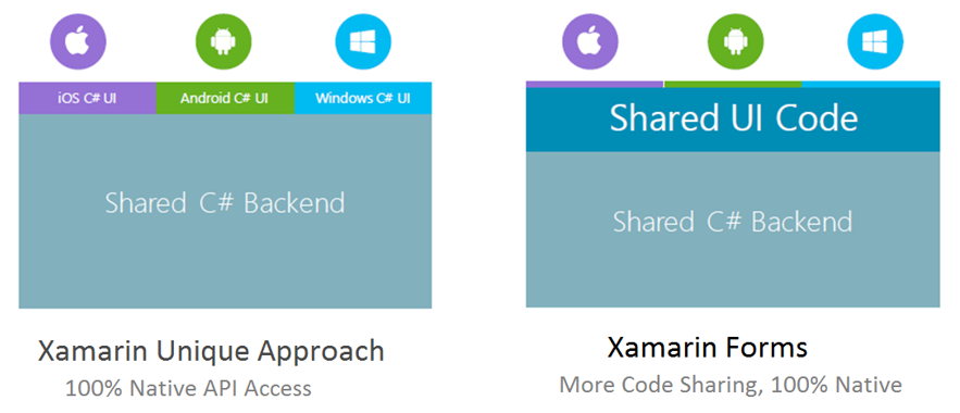 Xamarin Forms and Xamarin Native Difference