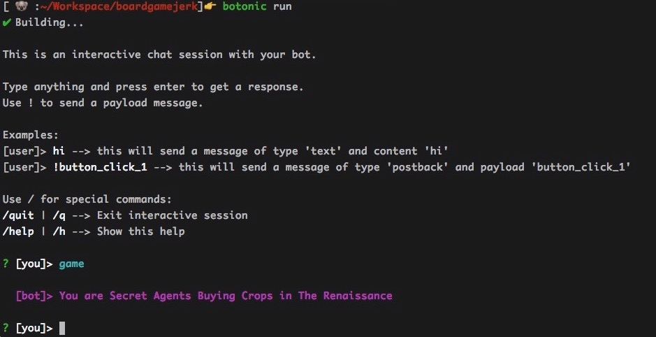 A chatbot on the command line