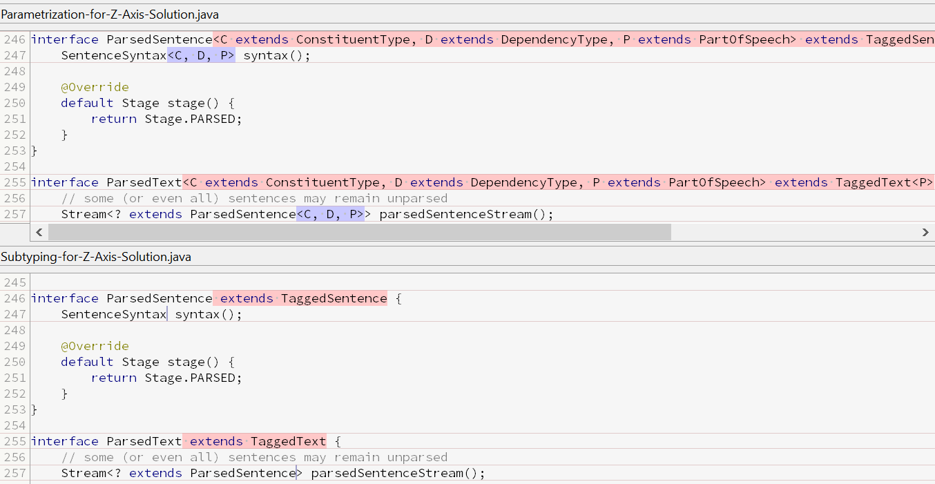 ParsedSentence + ParsedText (diff from SmartGit)