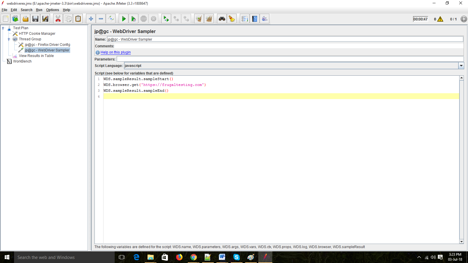 Automated Functional Testing Using WebDriver Sampler With