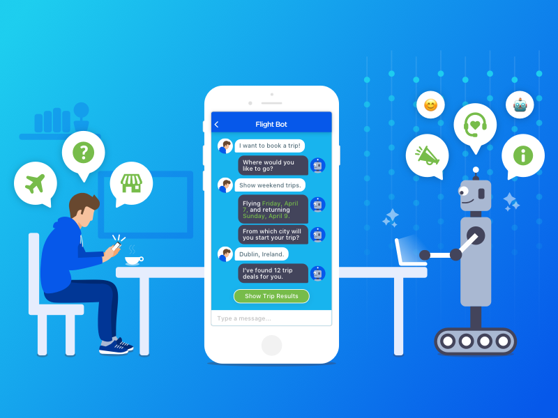Chatbots taking over mobile applications