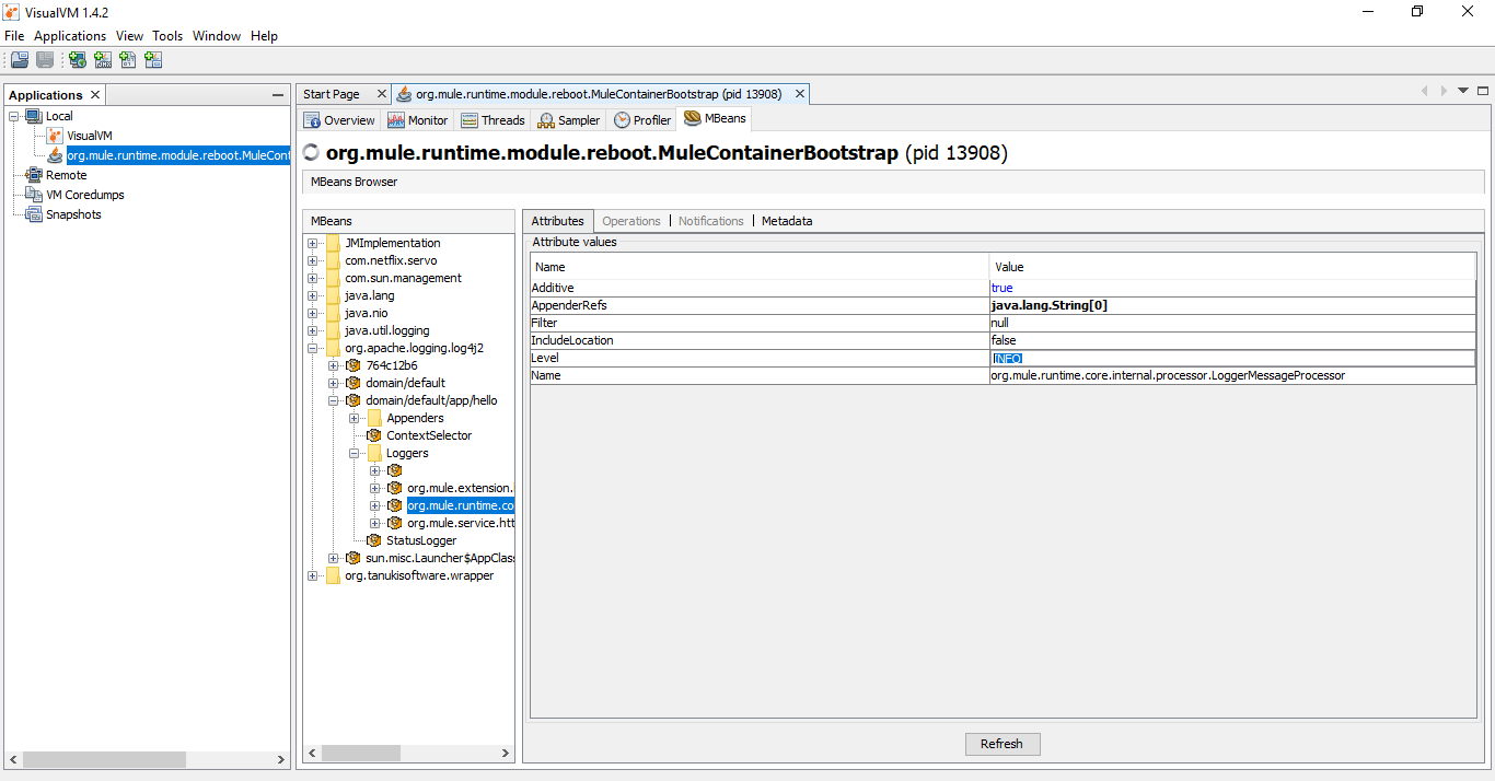 Dynamically Change Logging Level of Application in Mule Run-Time