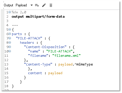 File Attachment Handling in Mule 4 (Use of Multi-Part Form Data