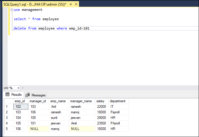 Forensic Analysis of Database Tampering on a Specific Time In SQL
