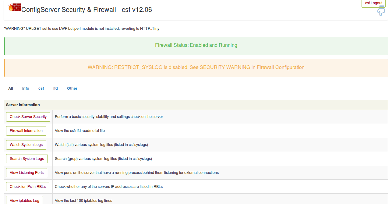 Install and Configure ConfigServer Firewall (CSF) on Ubuntu