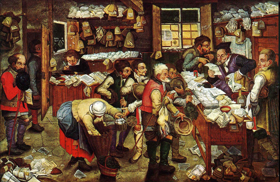 Pieter Brueghel the Younger, Paying the Tax (The Tax Collector), 1640