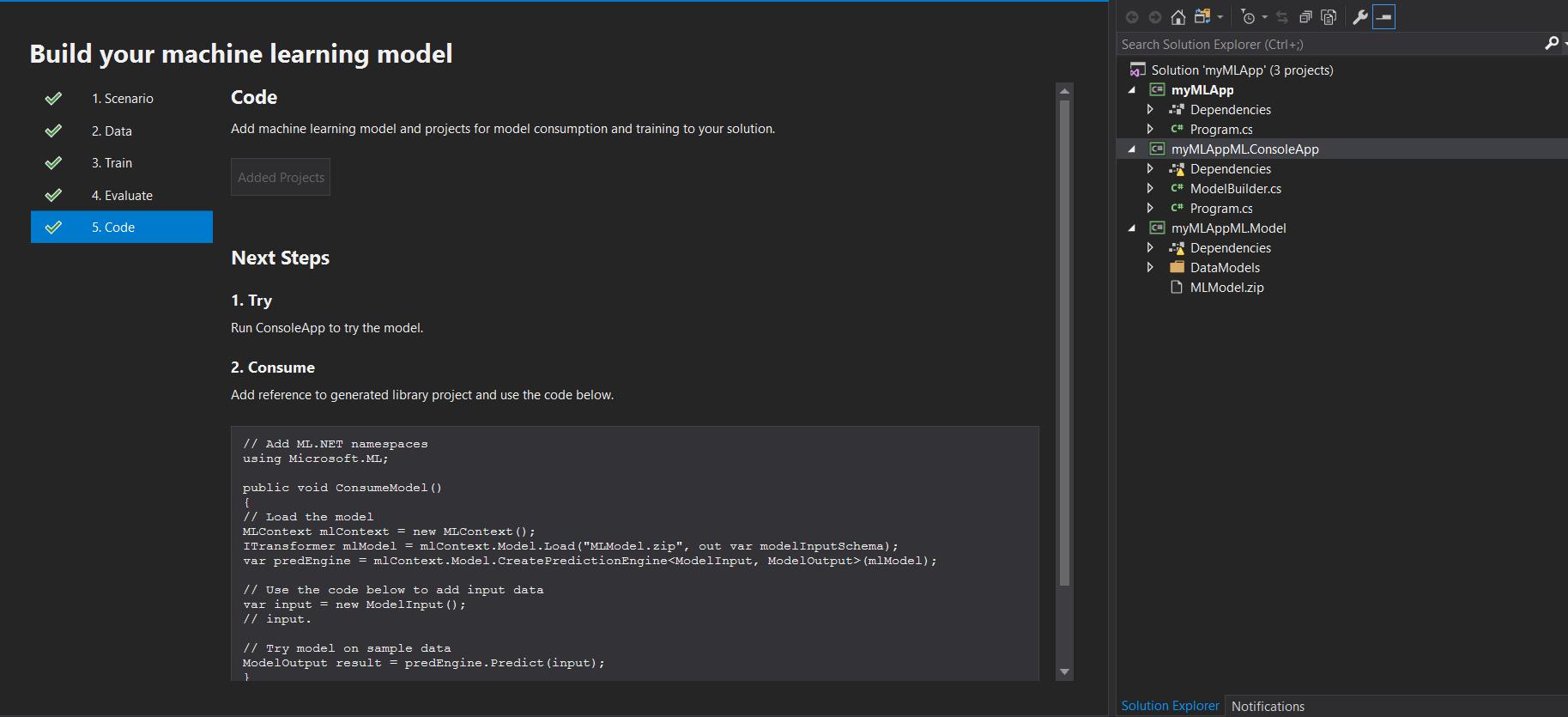 Machine Learning for  Net Developers Using Visual Studio