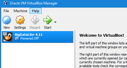 Imported VM in Oracle VirtualBox