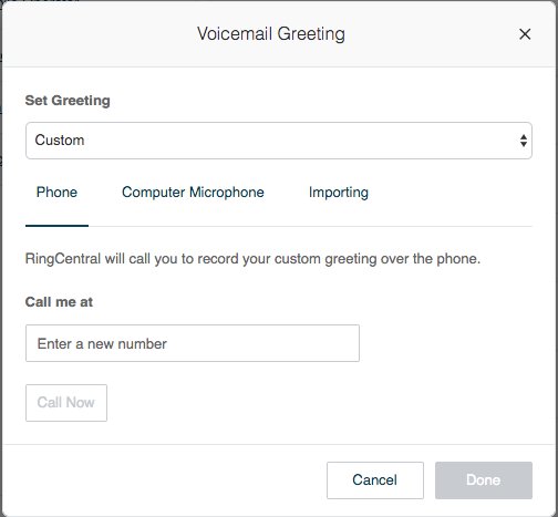 Customize Voicemail Greeting Message