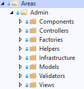 Configuring Areas folder