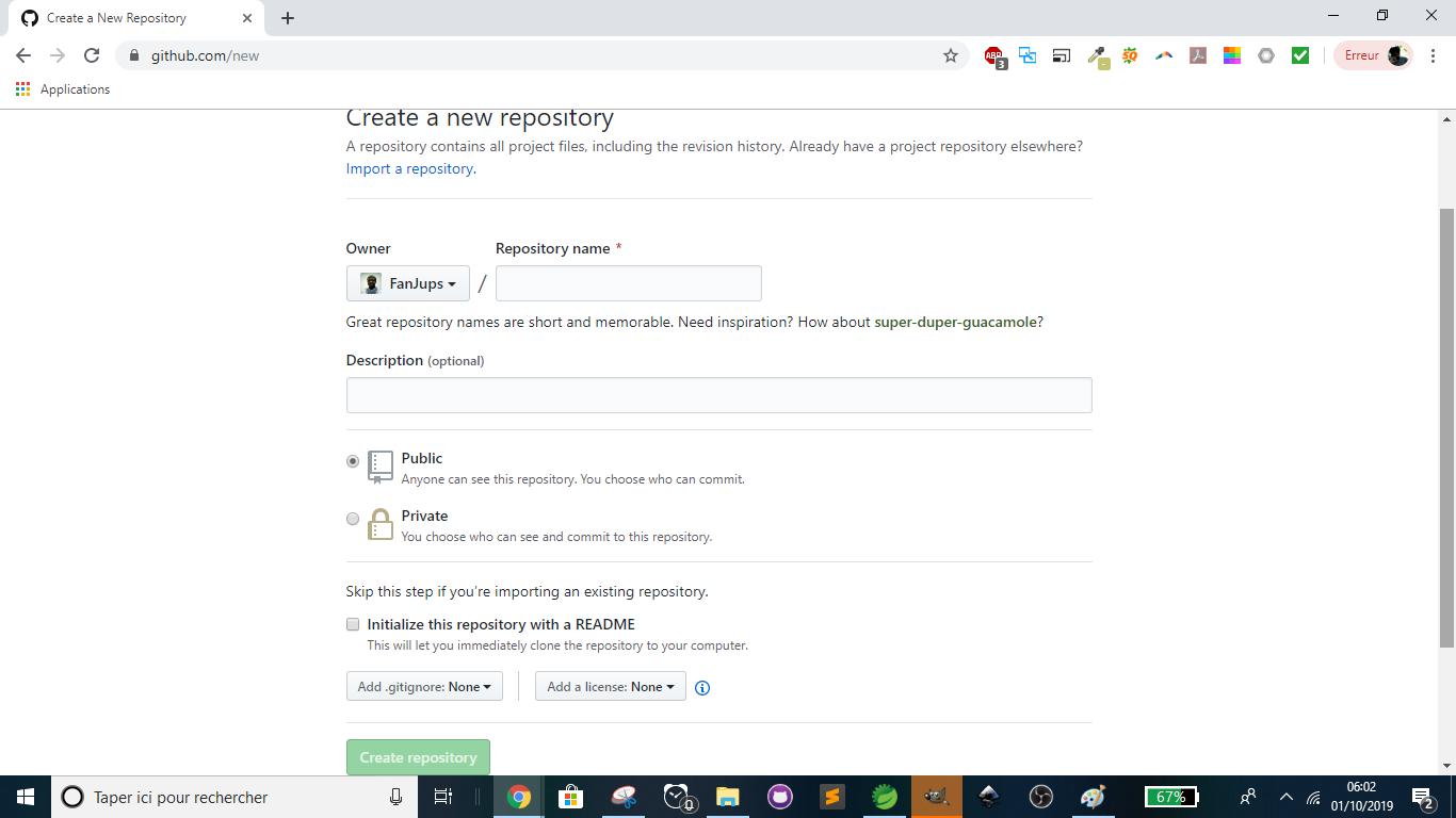 GitHub - New repository