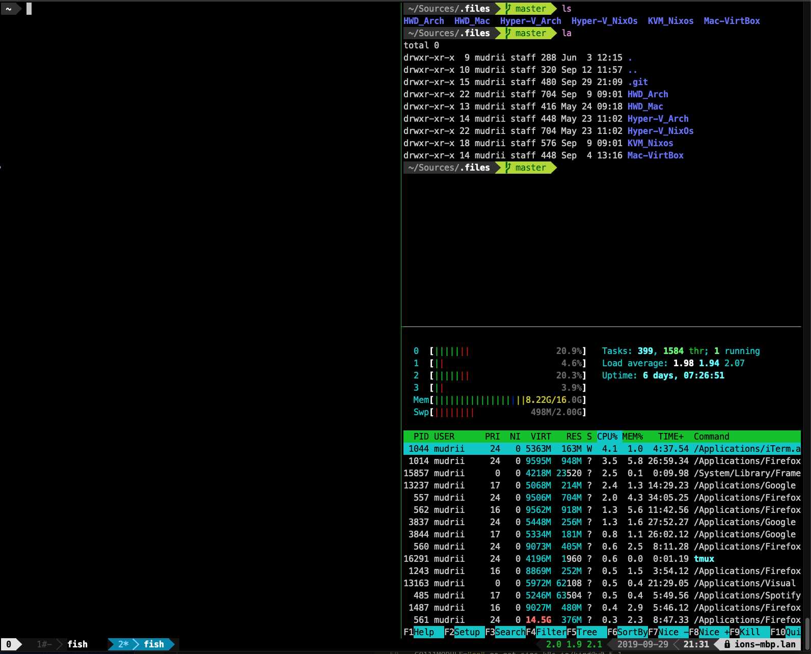 Improved terminal view/layout