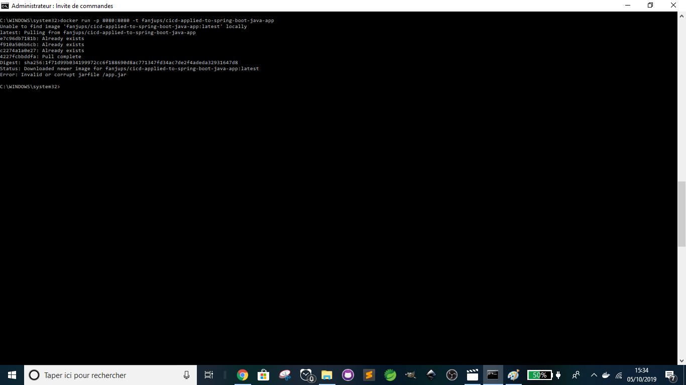 Travis CI - Docker - Running Docker Image