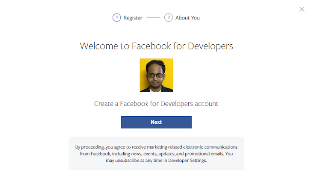 oauth2 facebook signup page