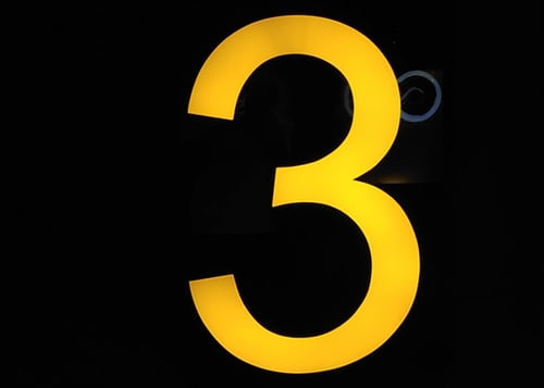 Yellow number three