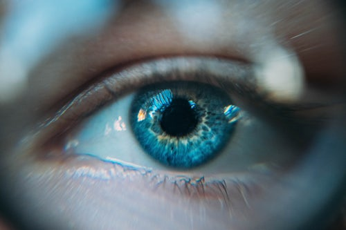 Image of persons blue eye