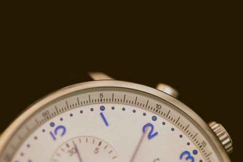 Closeup photo of watch