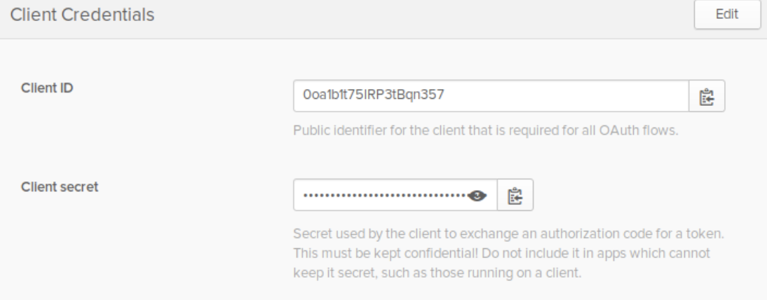 Retrieving client credentials