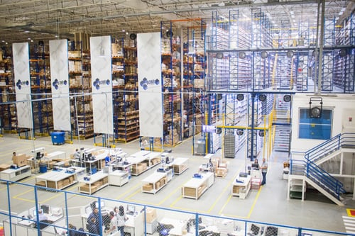 Huge warehouse with extremely high ceilings