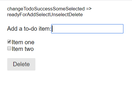 Ready for add select unselect delete