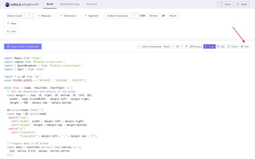 Editing in Code Sandbox