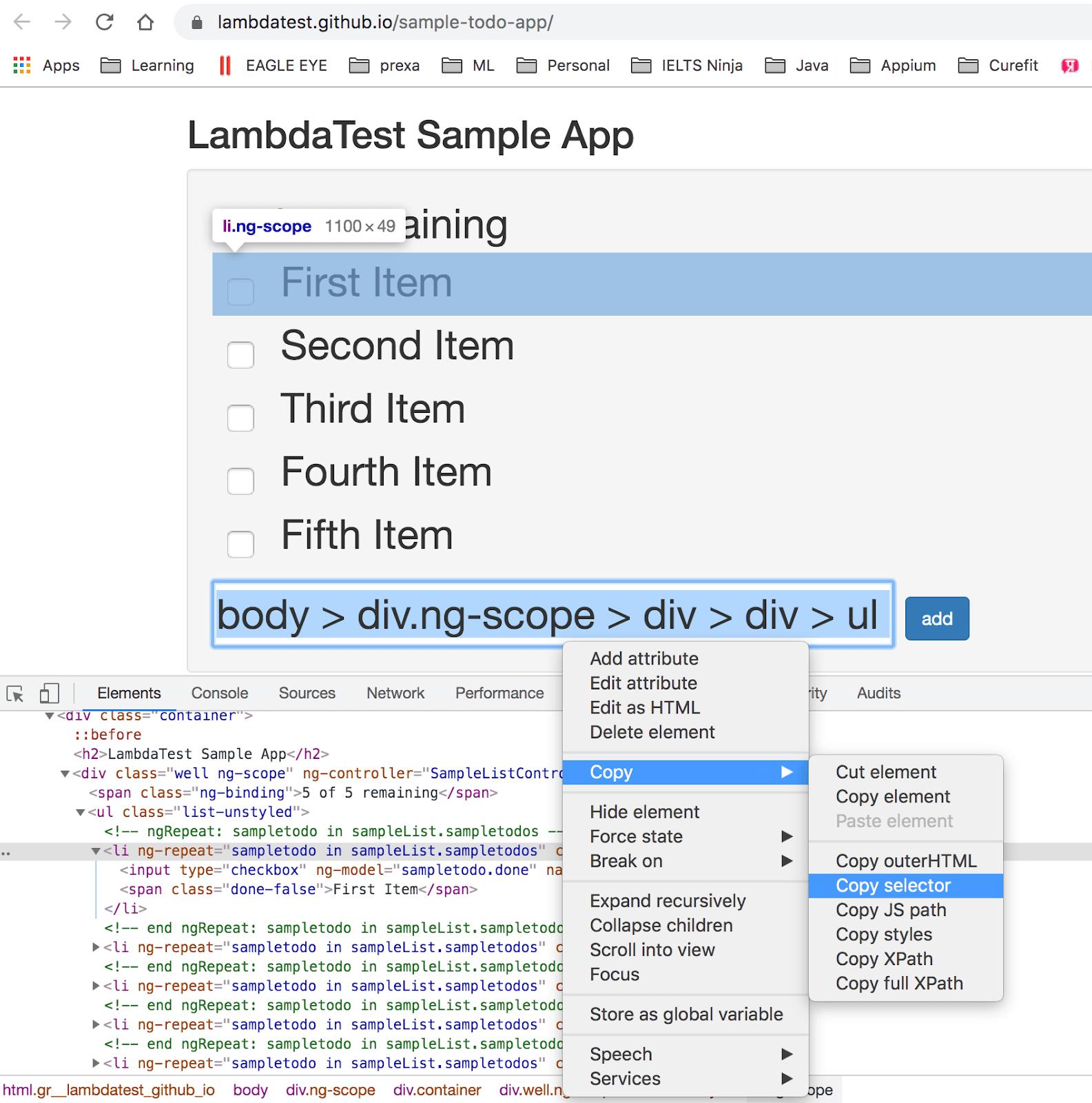 lambda testing