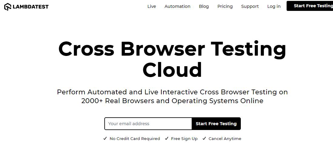 cross browser testing cloud