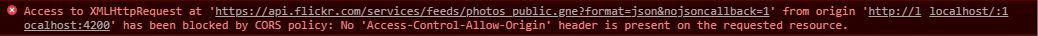 Console log error