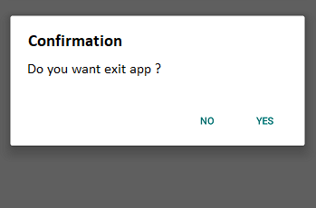 Exit page confirmation