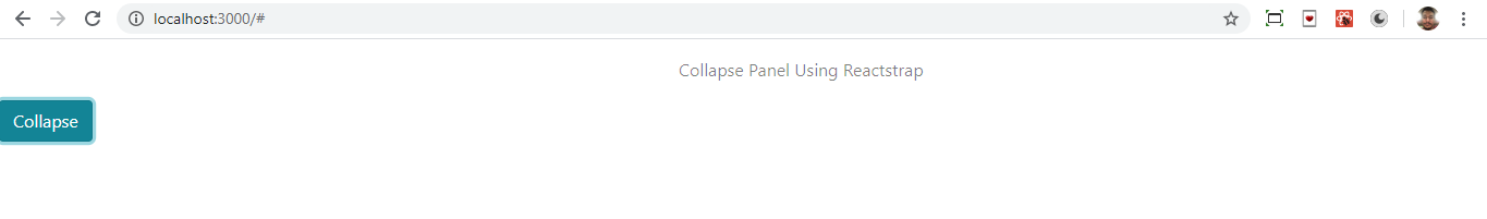 Collapsed panel with Reactstrap