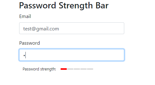 Password strength low