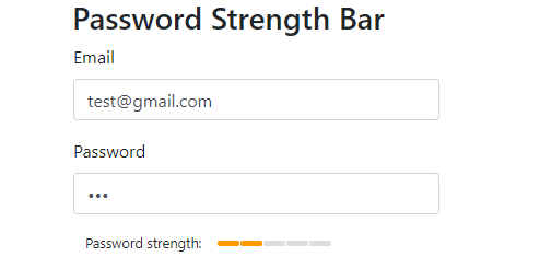 Password strength medium