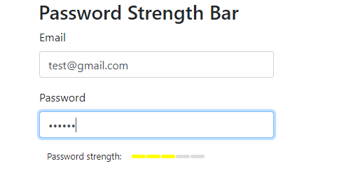 Password strength fair