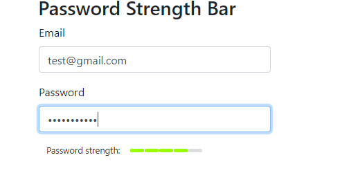 Password strength good