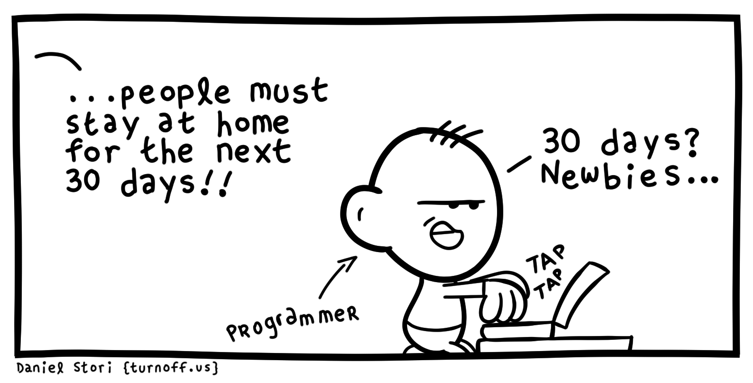 Covd-19 work from home comic