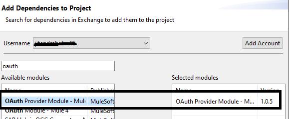 Adding OAUTH Provider module