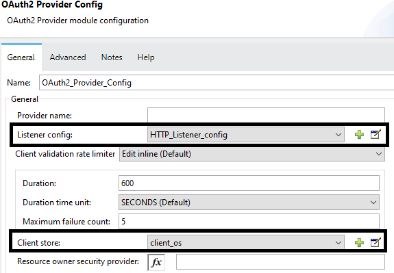 OAuth2 Provider config
