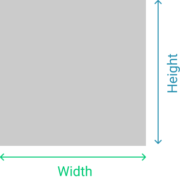Height and width in HTML