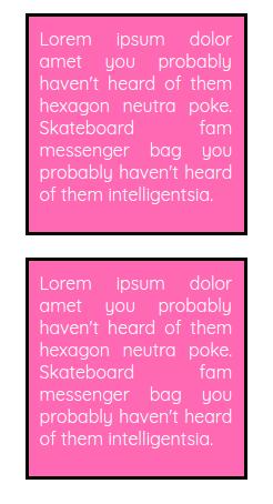 Margin example in HTML