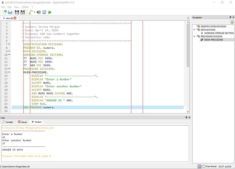 COBOL program