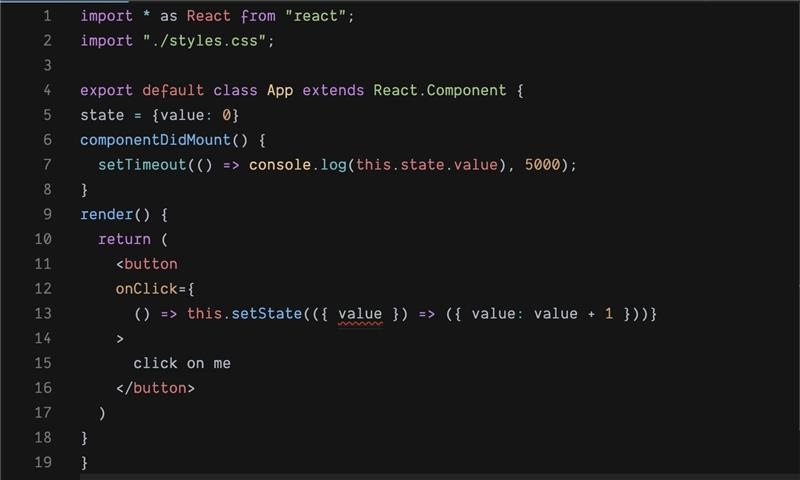 React import