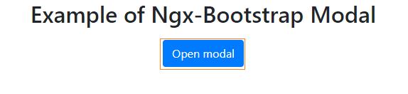 Open modal button
