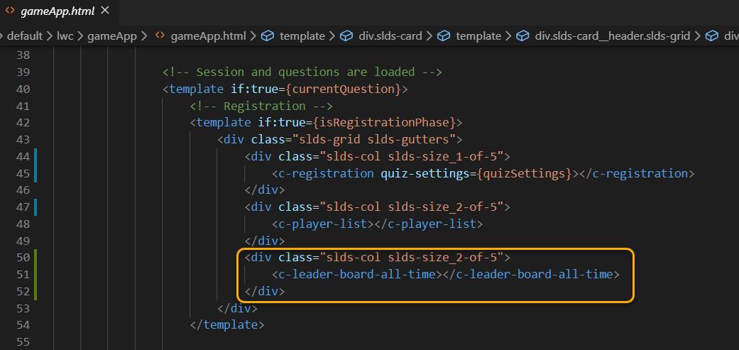 Adding leaderboard