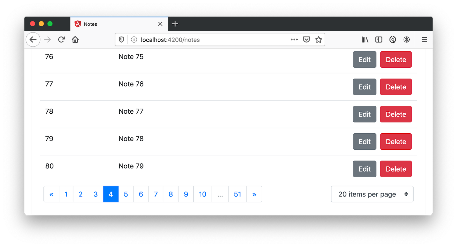 Adding pagination