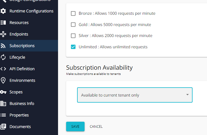 subscription availability