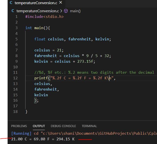 Temperatur conversion script